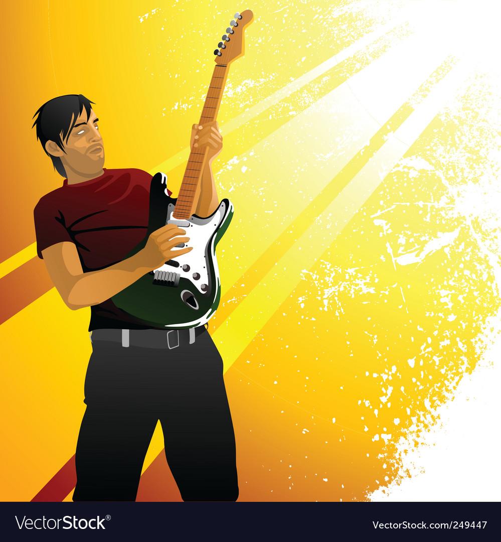 Guitarist vector | Price: 3 Credit (USD $3)