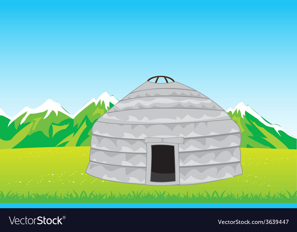 Home of the nomad in mountain vector | Price: 1 Credit (USD $1)
