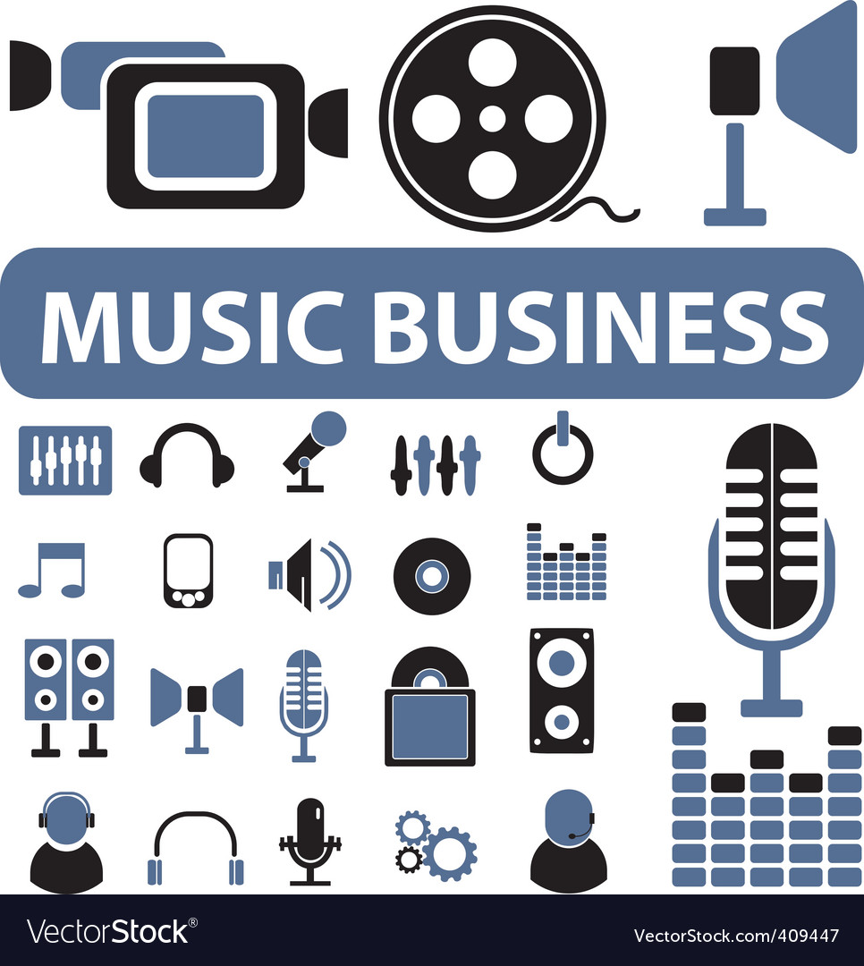 Music business signs vector | Price: 1 Credit (USD $1)