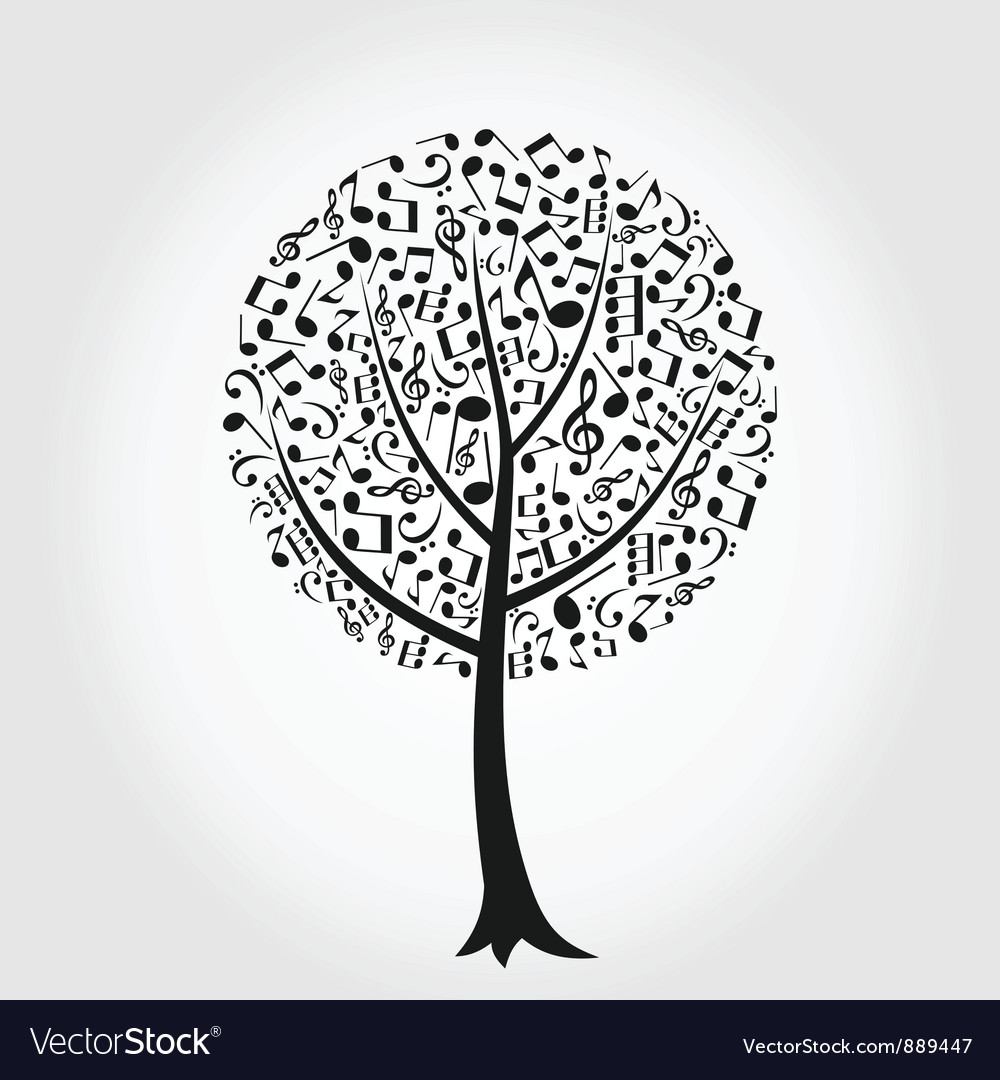 Musical tree vector | Price: 1 Credit (USD $1)