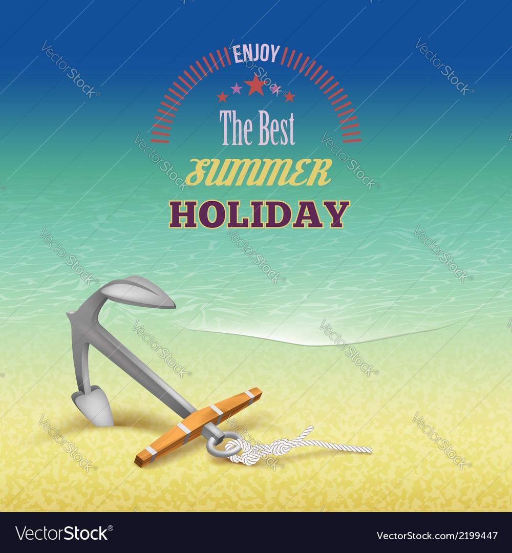 Nautical summer travel poster design vector | Price: 1 Credit (USD $1)