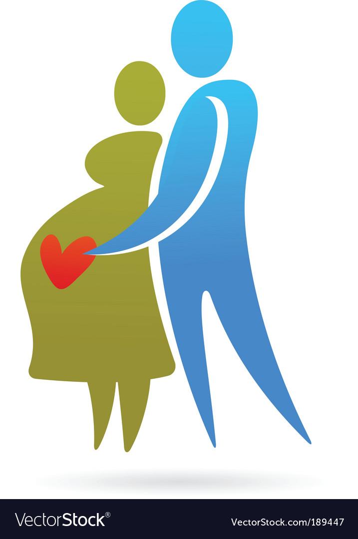Pregnancy silhouettes vector | Price: 1 Credit (USD $1)