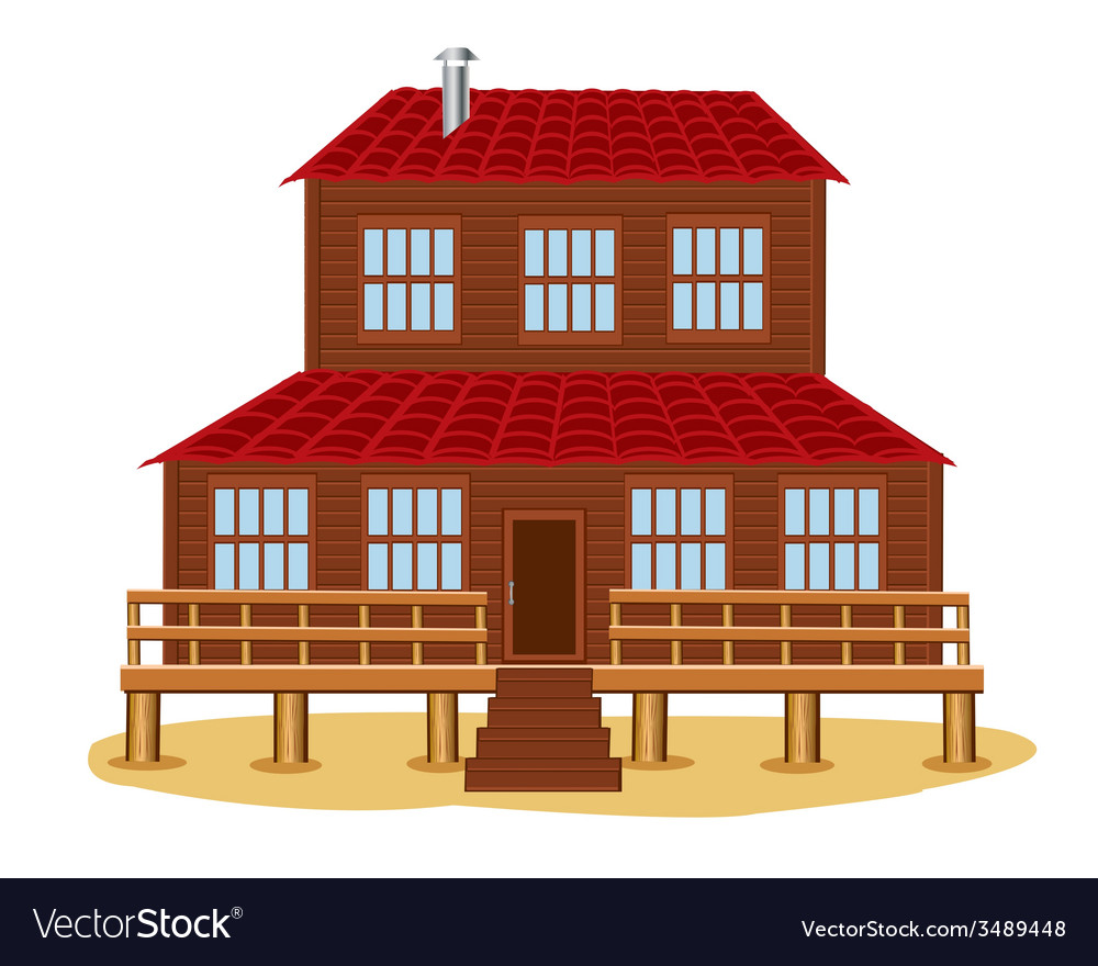 Big wooden house vector | Price: 1 Credit (USD $1)