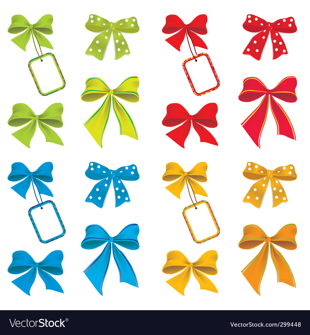 Collection of ribbons for design vector | Price: 1 Credit (USD $1)