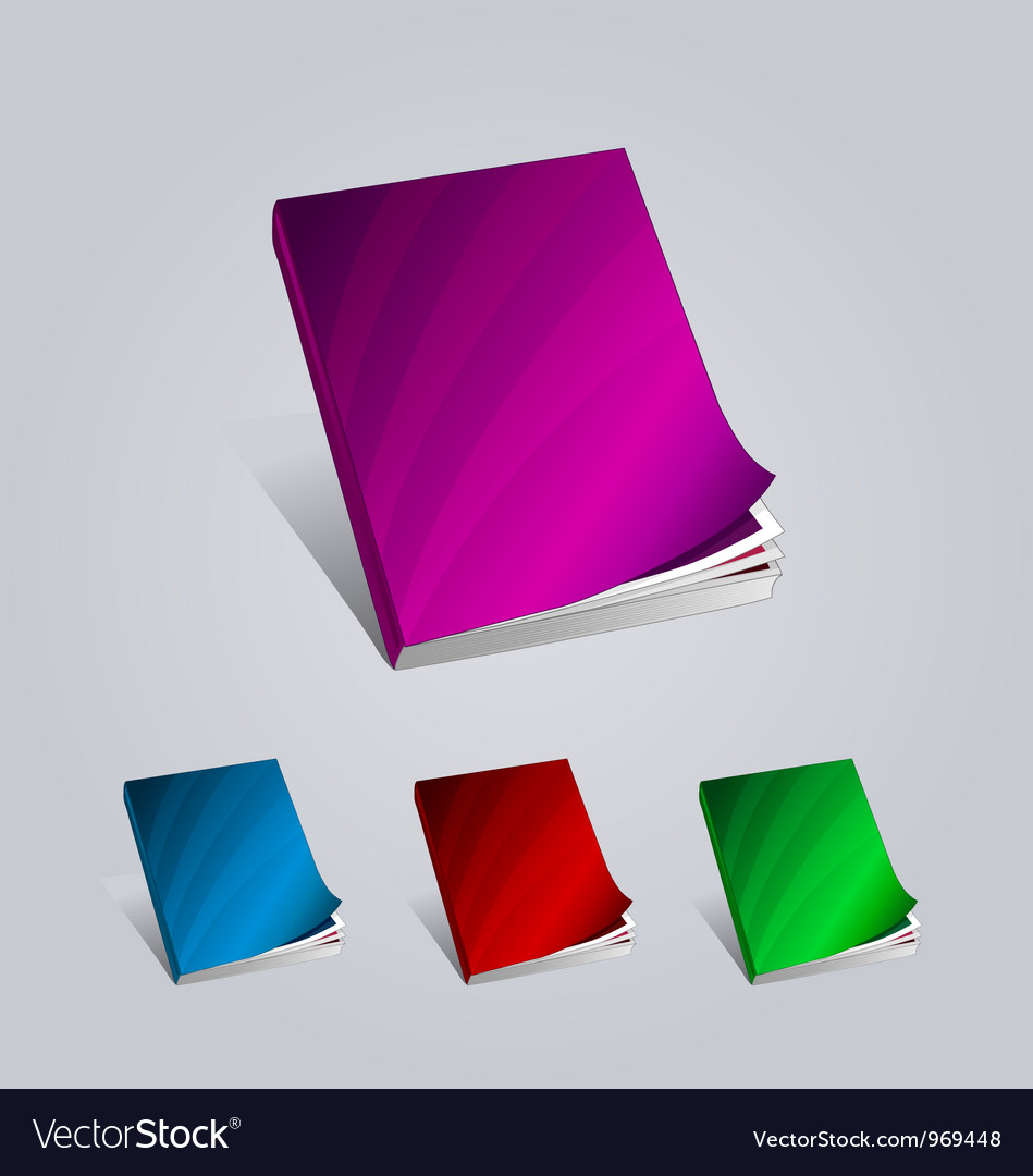 Colorful creative books presentation magazine vector | Price: 1 Credit (USD $1)