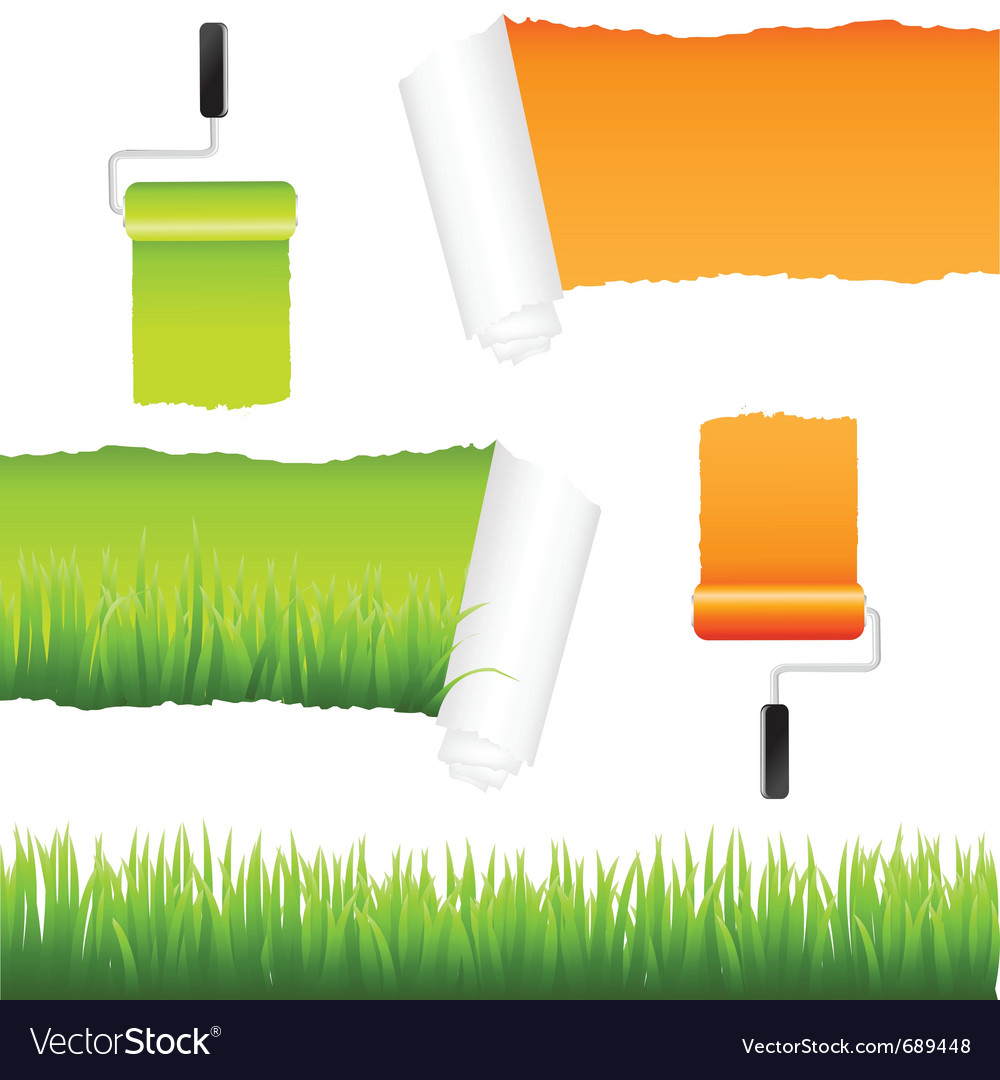 Grass and paper elements vector | Price: 1 Credit (USD $1)