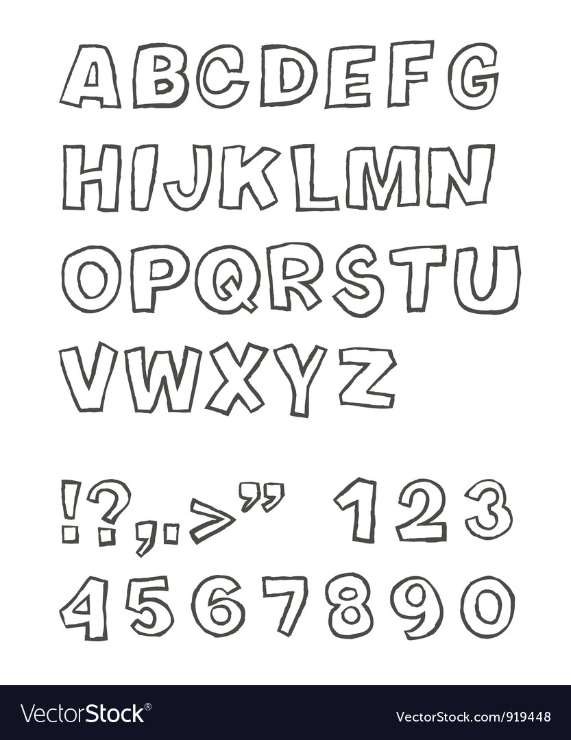 Handwritten sans serif abc vector | Price: 1 Credit (USD $1)