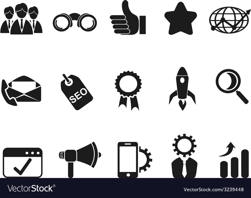 Internet marketing icons set vector | Price: 1 Credit (USD $1)