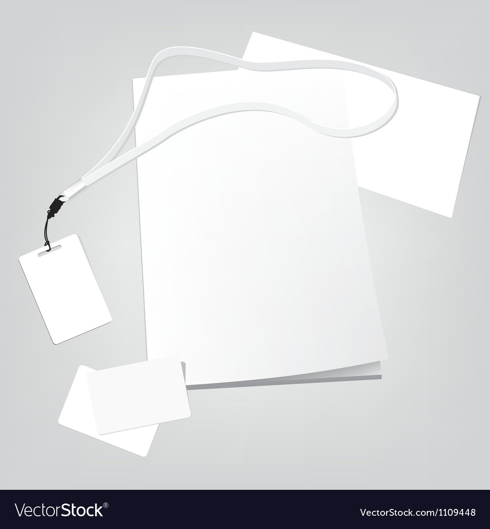 Set of corporate identity templates vector | Price: 1 Credit (USD $1)