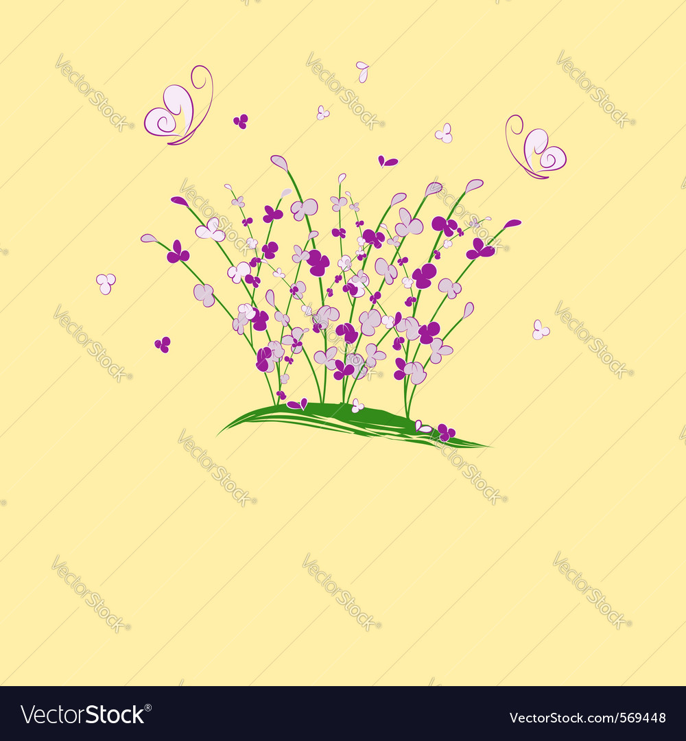 Summertime flower vector | Price: 1 Credit (USD $1)