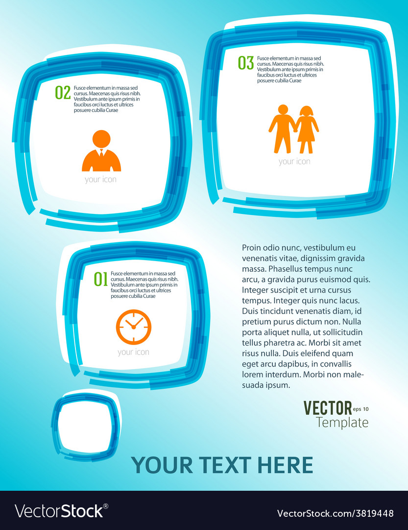 Template flyer bubble effect paint brush blue vector | Price: 1 Credit (USD $1)