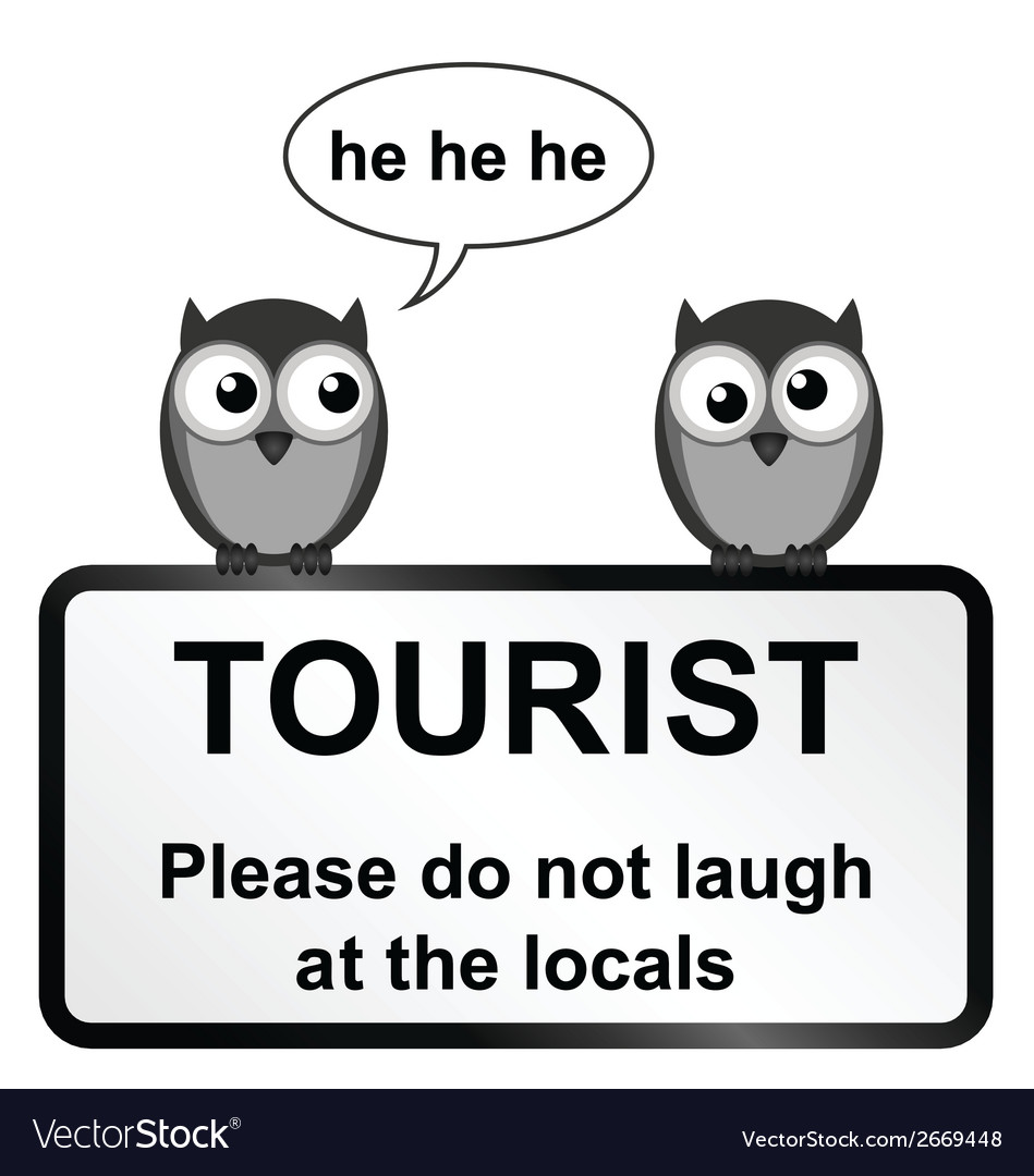 Tourist sign vector | Price: 1 Credit (USD $1)