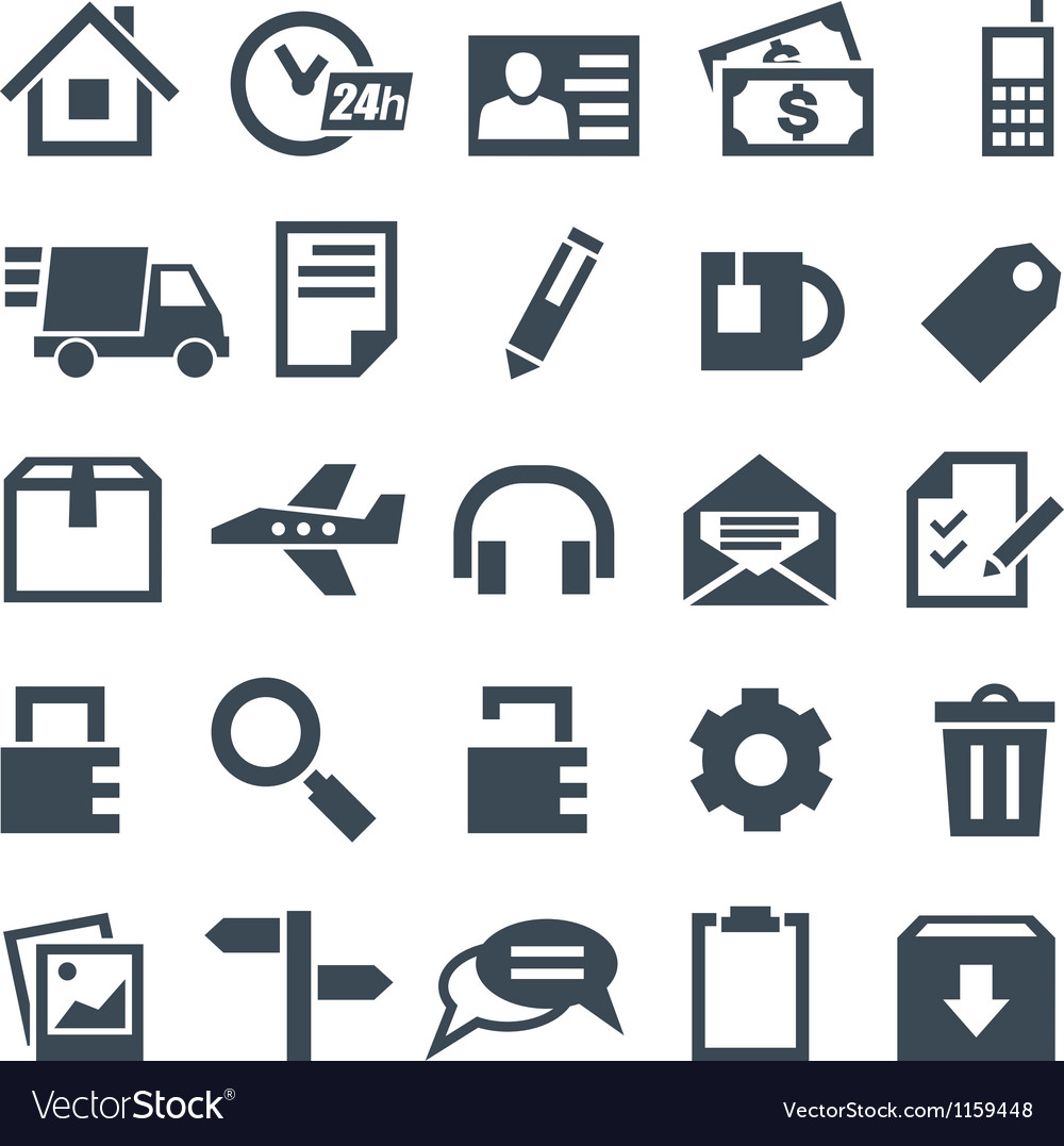 Universal set of icons for mobile applications and vector | Price: 1 Credit (USD $1)
