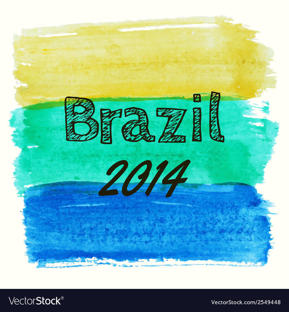 With watercolor elements dedicated to brazil vector   Price: 1 Credit (USD $1)
