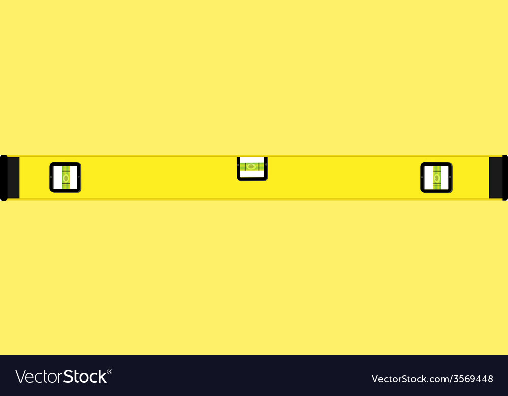 Yellow level construction vector | Price: 1 Credit (USD $1)