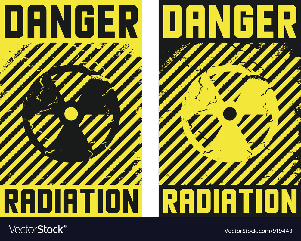 2 radiation posters vector | Price: 1 Credit (USD $1)