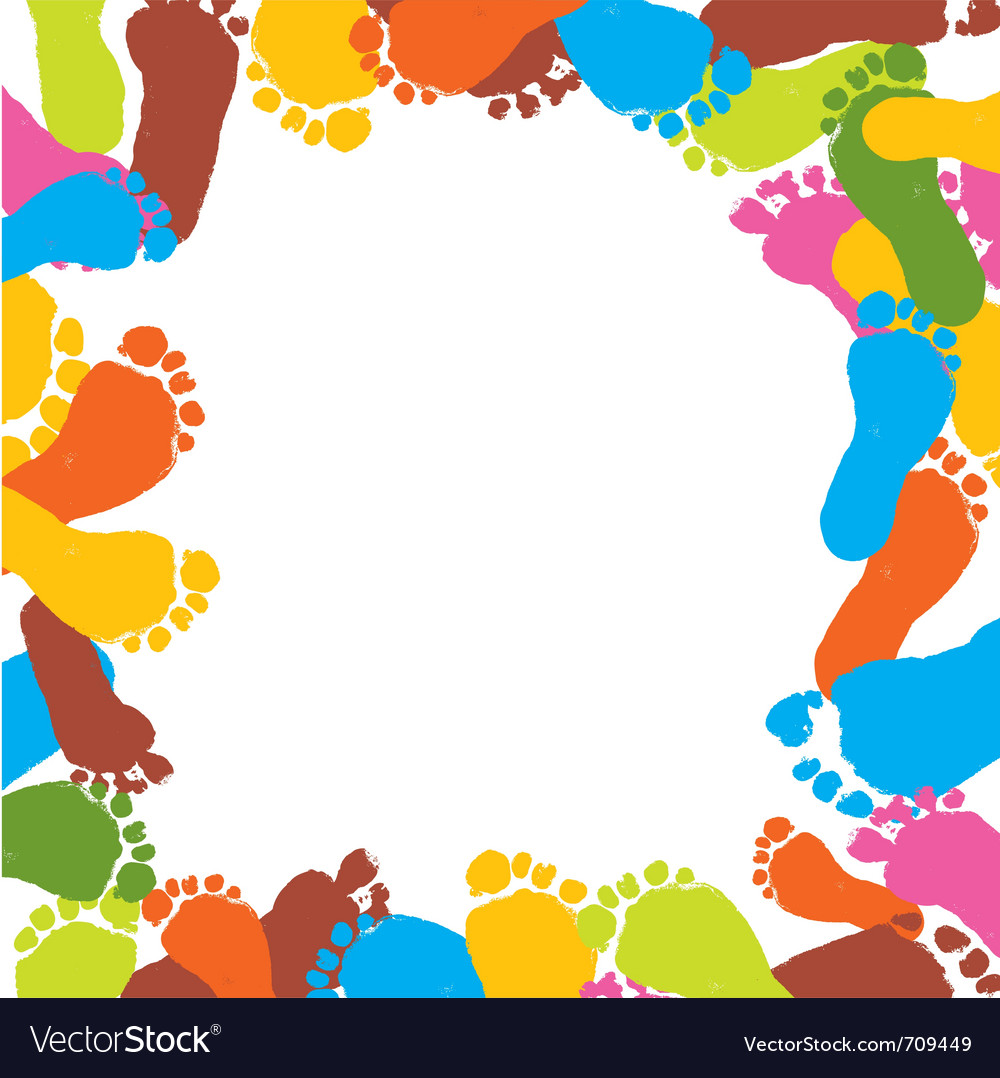 Abstract background prints of foots of the child vector | Price: 1 Credit (USD $1)