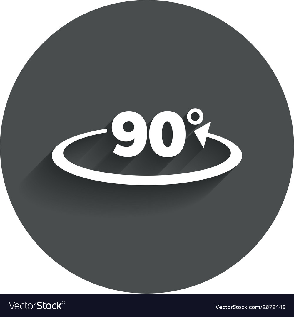 Angle 90 degrees sign icon geometry math symbol vector | Price: 1 Credit (USD $1)