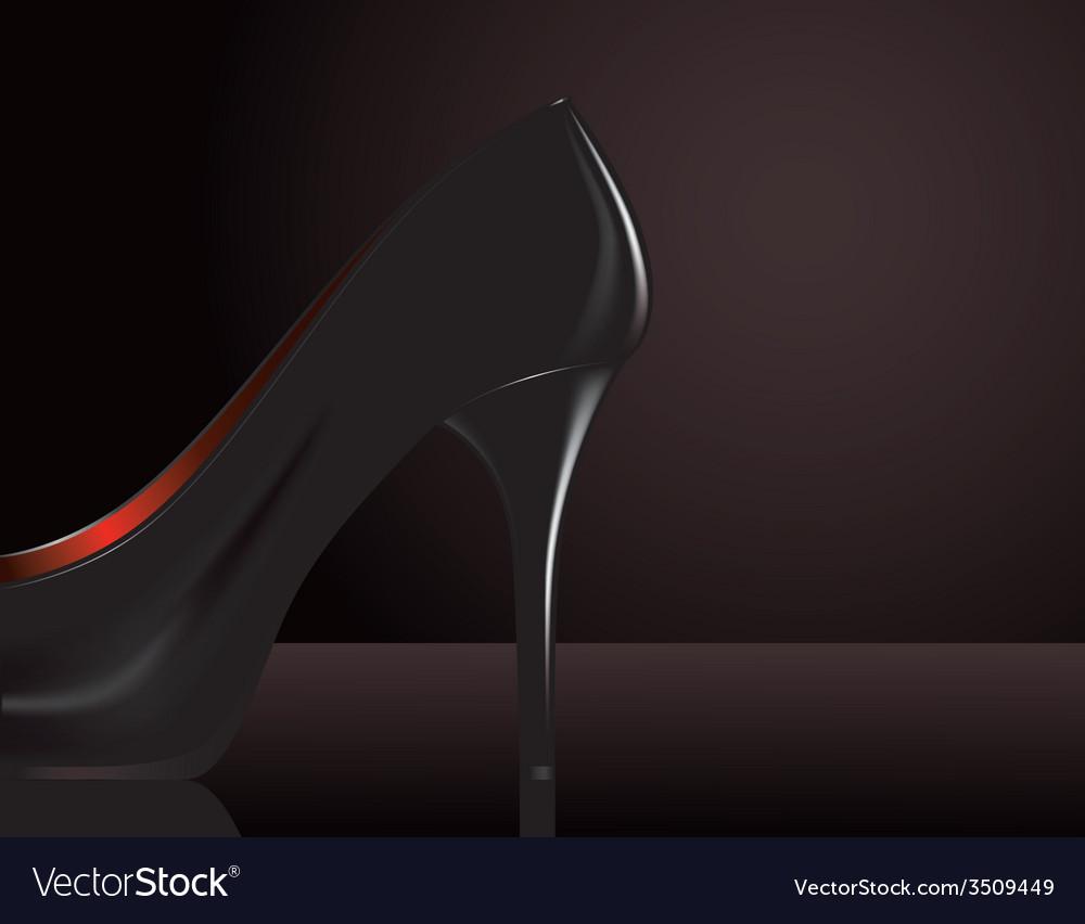 Black heel vector | Price: 1 Credit (USD $1)