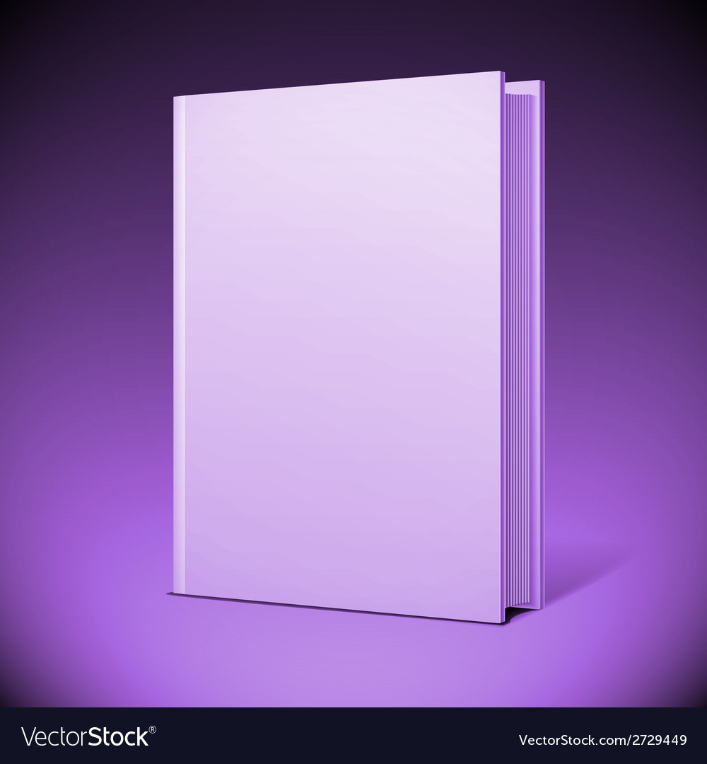 Blank book cover vector | Price: 1 Credit (USD $1)
