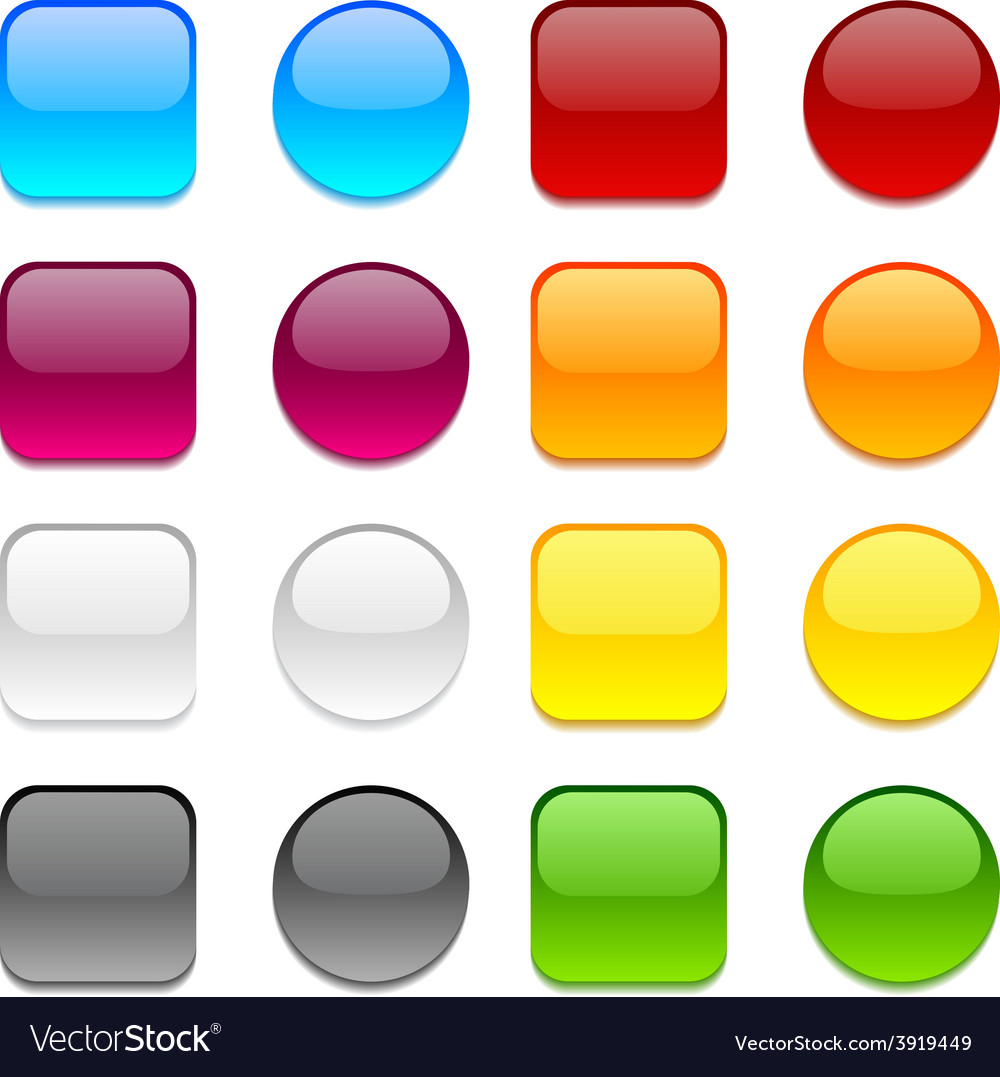 Color buttons on white vector | Price: 1 Credit (USD $1)