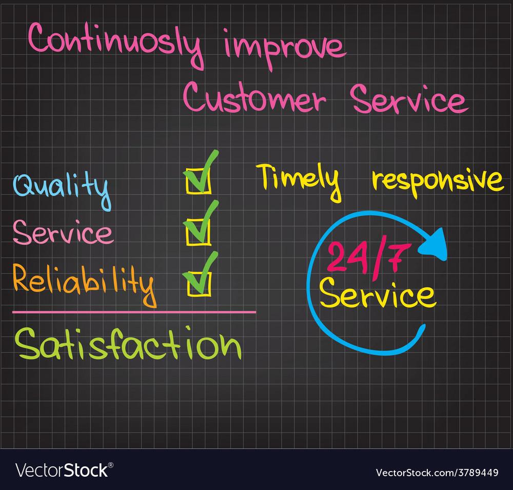 Customer service improvement vector | Price: 1 Credit (USD $1)