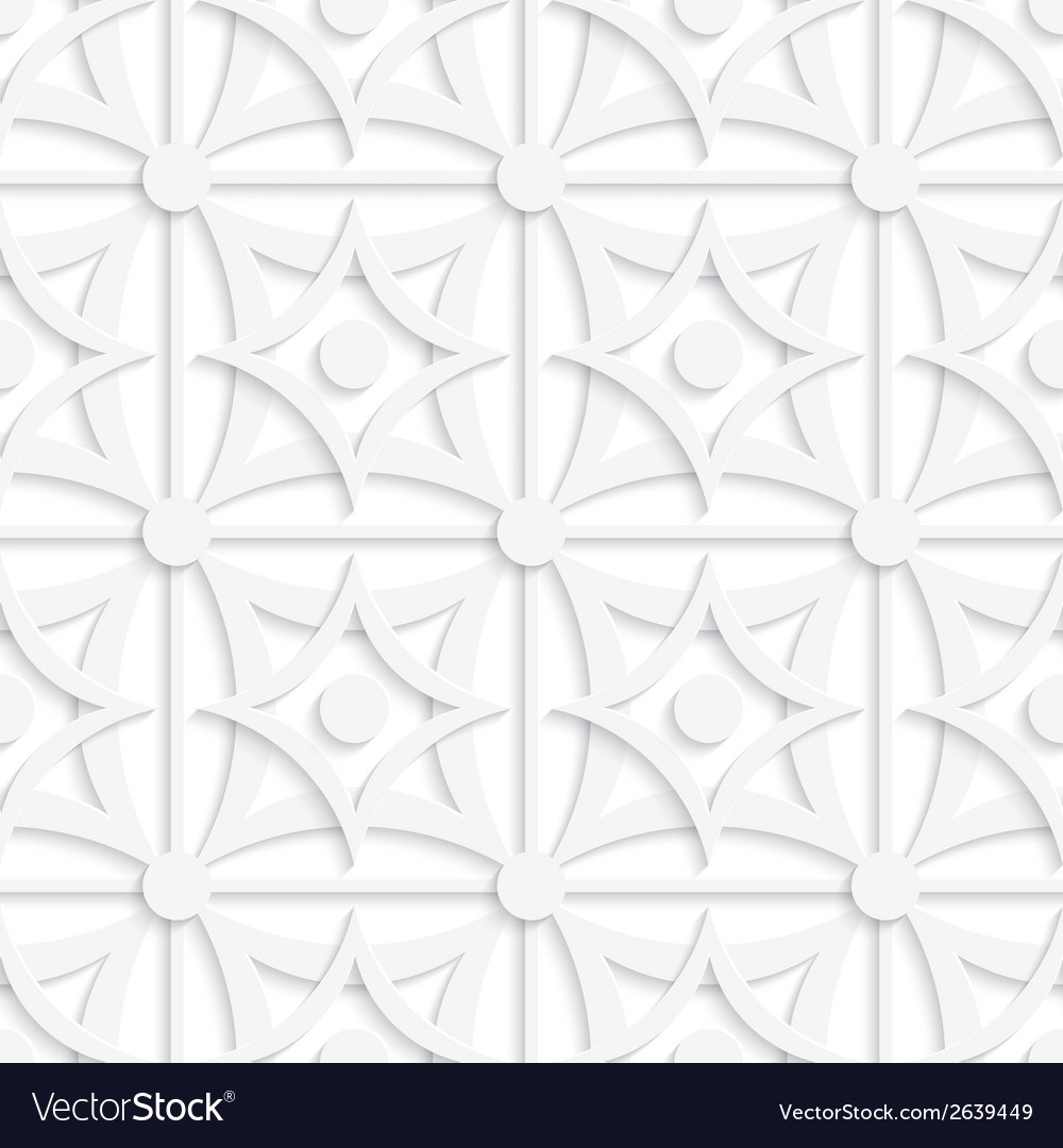Geometric white pattern with layering and dots vector | Price: 1 Credit (USD $1)