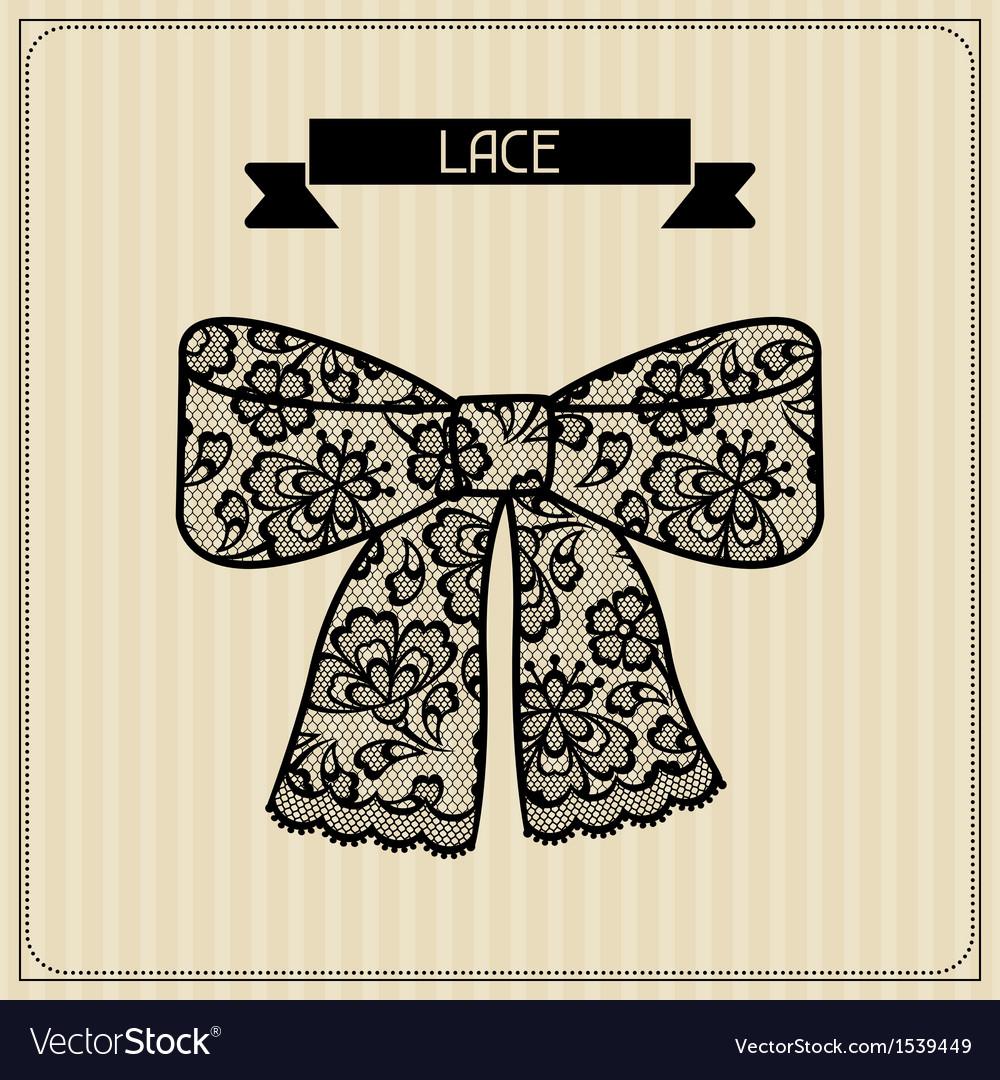 Lace vintage lace background floral ornament vector | Price: 1 Credit (USD $1)