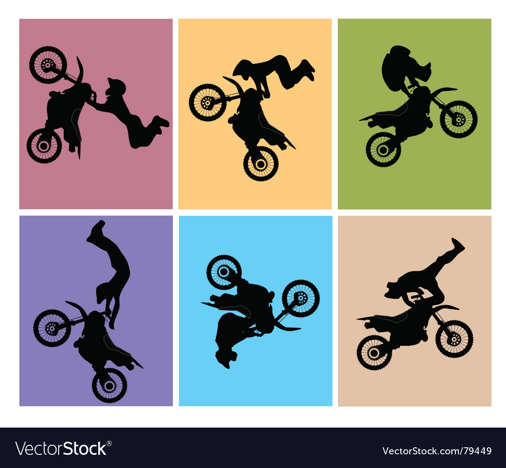Motocross jump vector | Price: 1 Credit (USD $1)