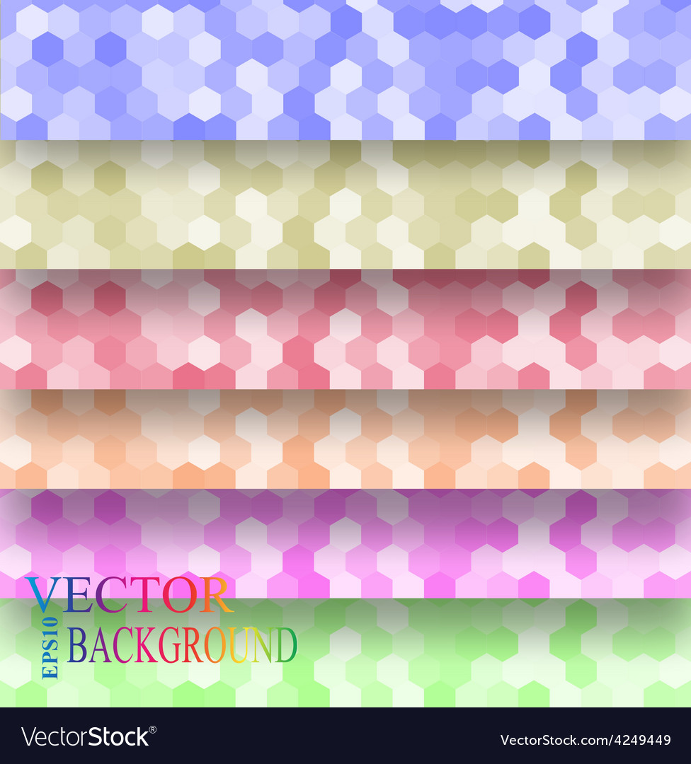 Seamless texture hex grid vector | Price: 1 Credit (USD $1)