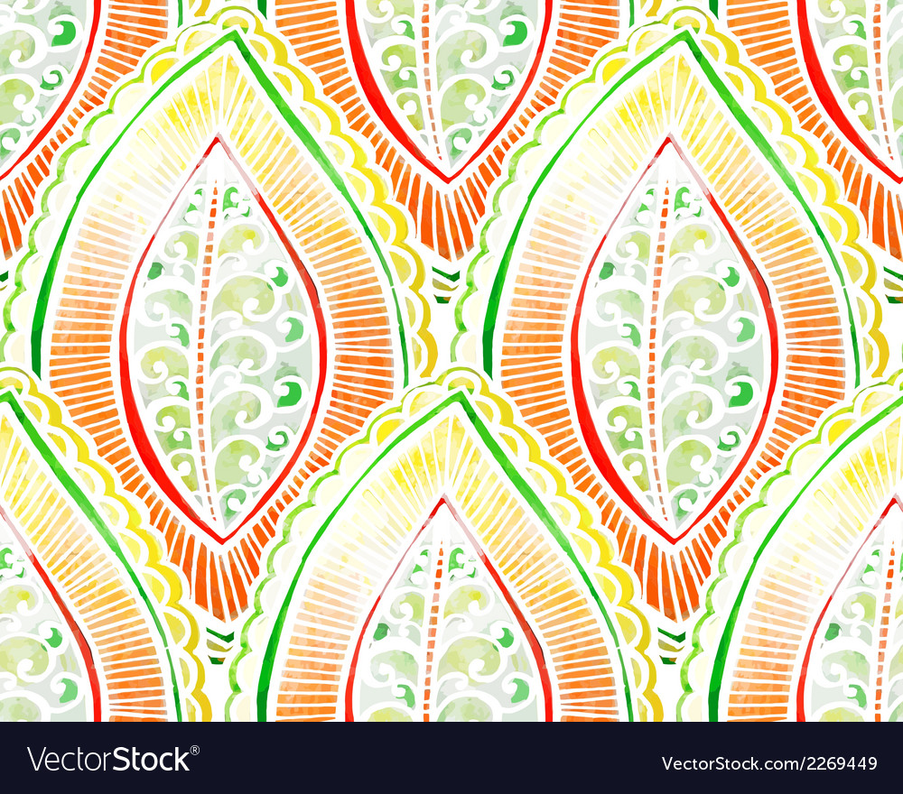 Seamless watercolor pattern vector | Price: 1 Credit (USD $1)