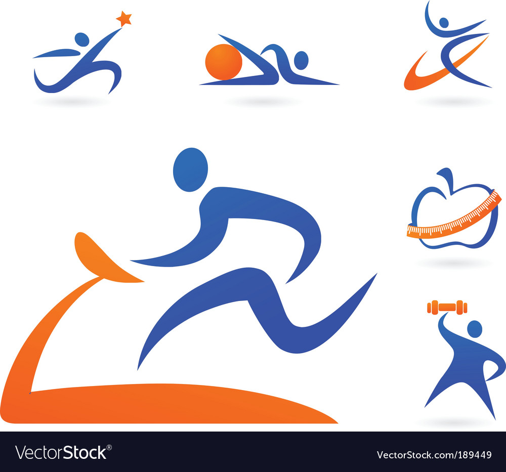 Sport and fitness silhouette vector | Price: 1 Credit (USD $1)