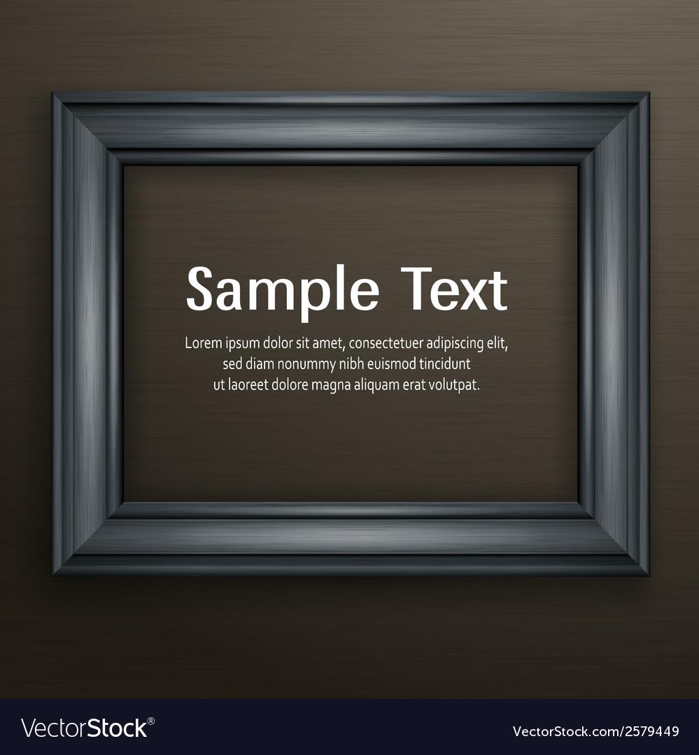 Wooden black frame on dark vector | Price: 1 Credit (USD $1)