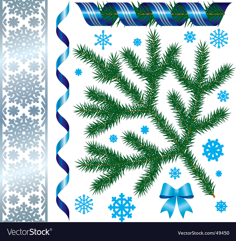 Christmas & new-year's decorations vector | Price: 1 Credit (USD $1)