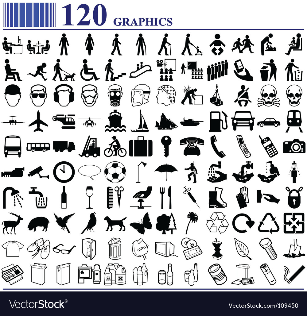 Everyday icons vector | Price: 1 Credit (USD $1)