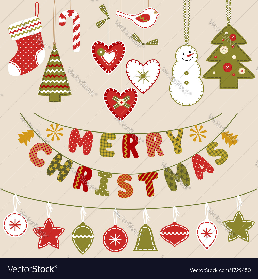 Handmade christmas decoration vector | Price: 1 Credit (USD $1)