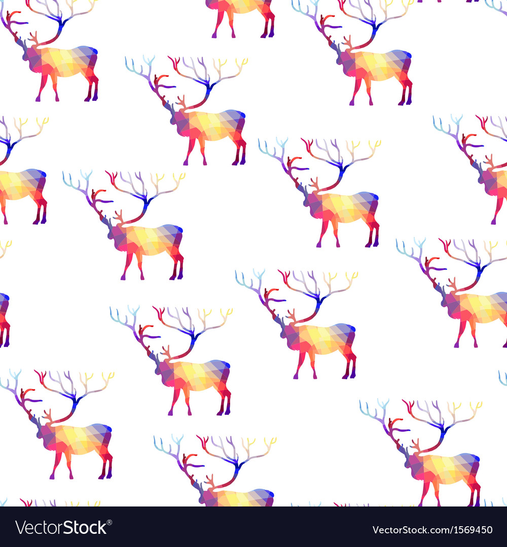 Seamless background with geometric deer vector | Price: 1 Credit (USD $1)