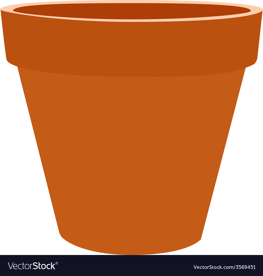 Brow flower pot vector | Price: 1 Credit (USD $1)