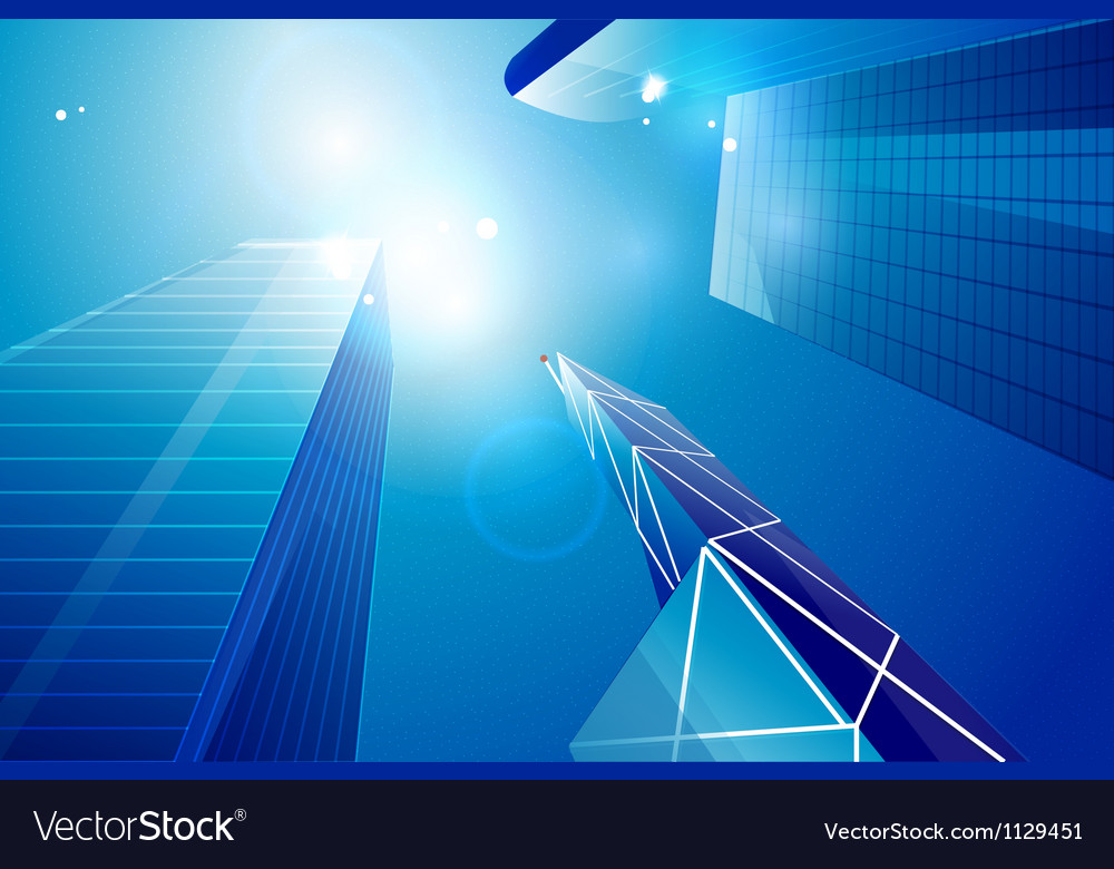 Business center  skyscrapers background vector | Price: 1 Credit (USD $1)