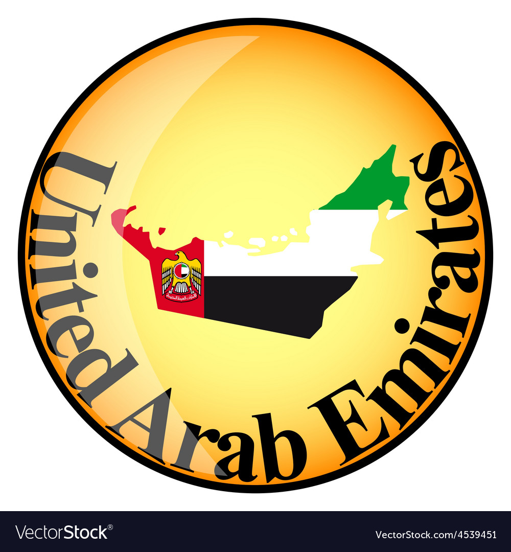 Button united arab emirates vector | Price: 1 Credit (USD $1)