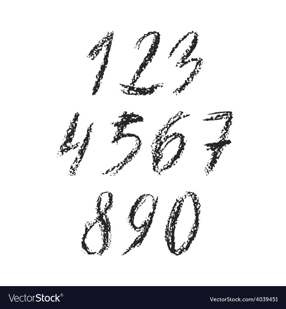 Charcoal numbers vector | Price: 1 Credit (USD $1)