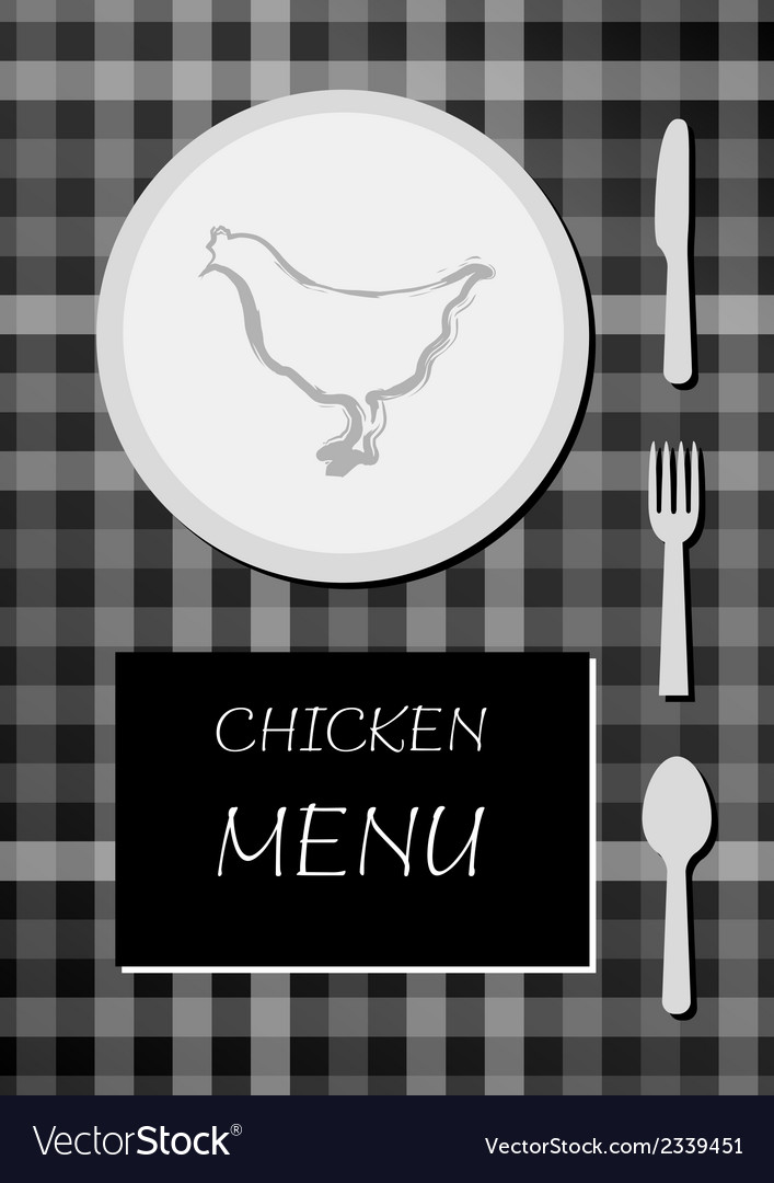 Chicken menu vector | Price: 1 Credit (USD $1)