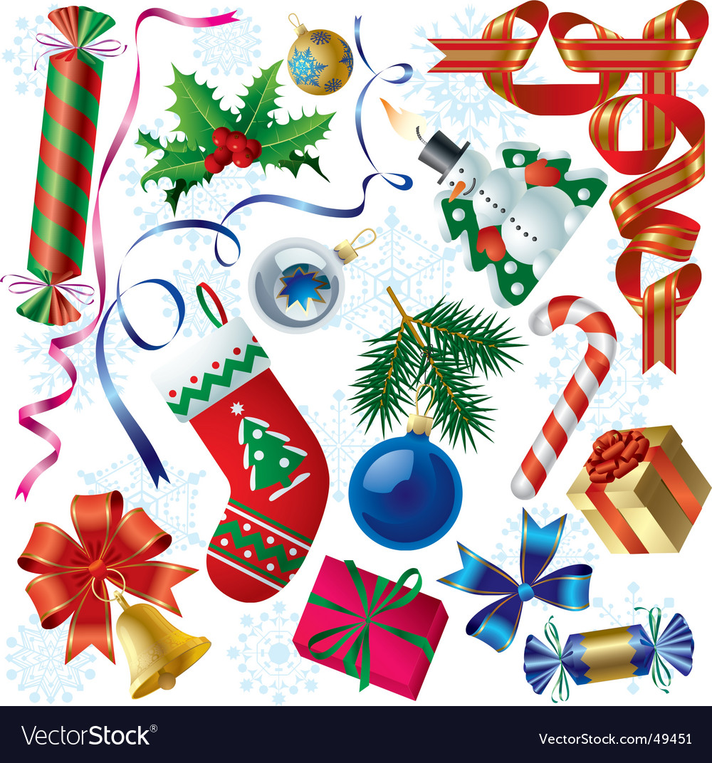 Christmas & new-year's decorations vector | Price: 3 Credit (USD $3)