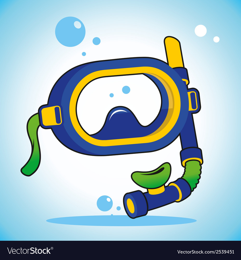 Diving mask vector | Price: 1 Credit (USD $1)