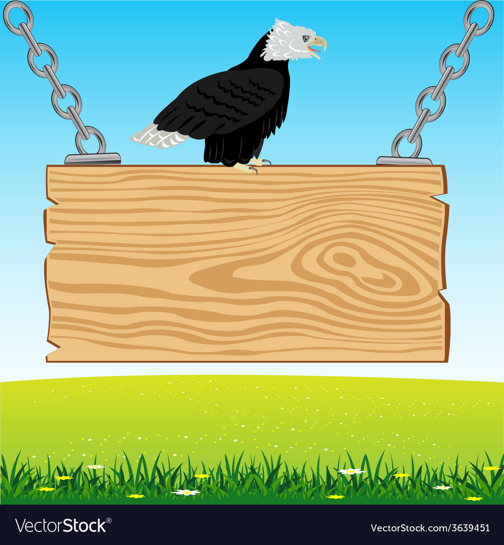 Eagle on board from tree vector | Price: 1 Credit (USD $1)