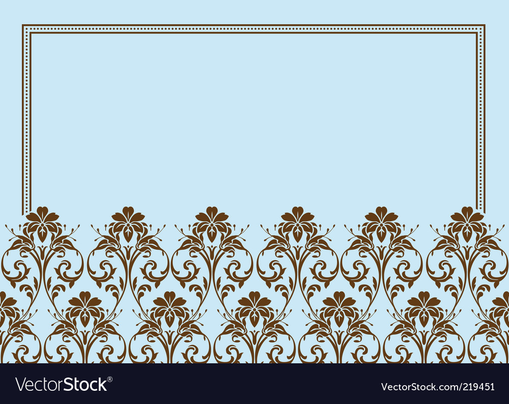 Floral frame border vector | Price: 1 Credit (USD $1)