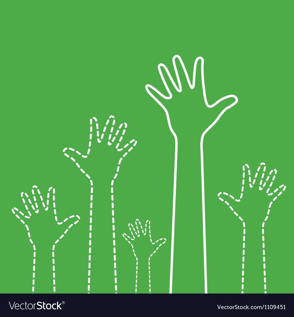 Green hands vector | Price: 1 Credit (USD $1)