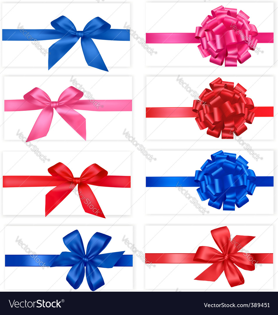 Group with color bows vector | Price: 1 Credit (USD $1)