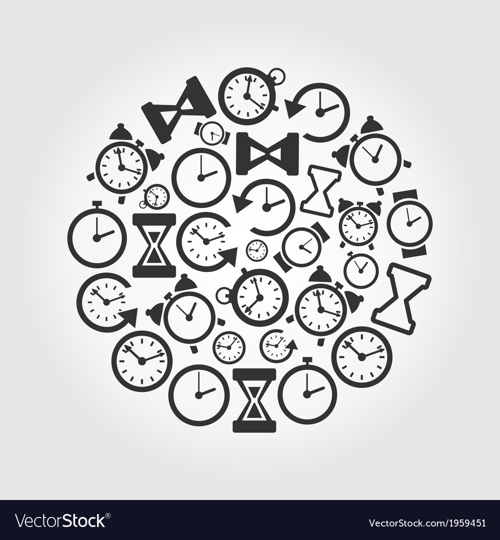 Hours a circle vector | Price: 1 Credit (USD $1)