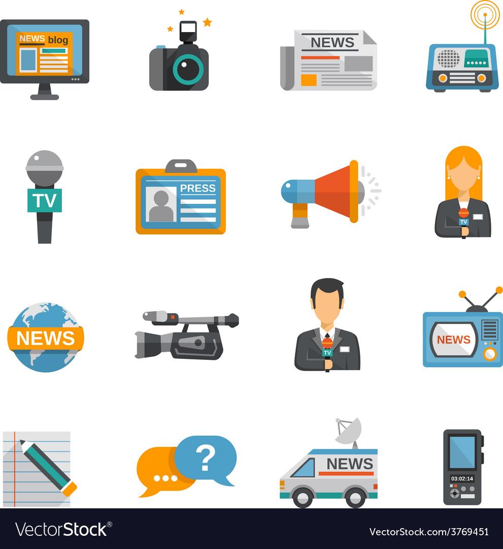Journalist icon flat vector   Price: 1 Credit (USD $1)
